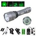 Светодиодный тактический зеленый фонарь для ружья 10000 лм  охотничий фонарик + дистанционный переключатель давления + перезаряжаемая батаре...