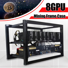 8GPU Dual power Mining Case Open Air Rig Push-pull Miner Frame for 8 GPU ETC BTH Ethereum New Computer Mining Case Frame Server