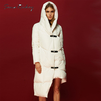 Sena Rickey Down Jacket Coat Women Winter Parka Warm Long White Duck Down Slim Lady Hooded