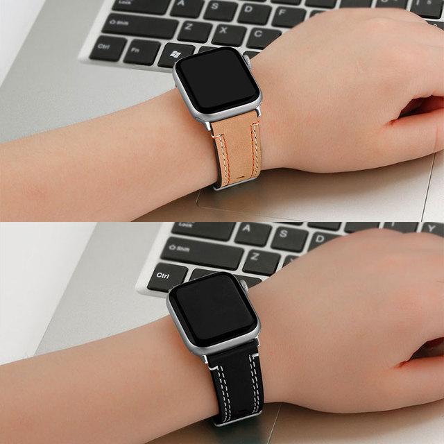 UTHAI A11 boucle en cuir de haute qualité pour iWatch 4 40mm 44mm bracelet de sport simple Tour pour Apple watch 42mm 38mm série 1 & 2 & 3