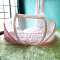 4PCS/Set Cotton Portable Baby Bed With Mosquito Netting Pillow Mat Set Collapsible Newborn Infant kids Children Baby Crib Cradle