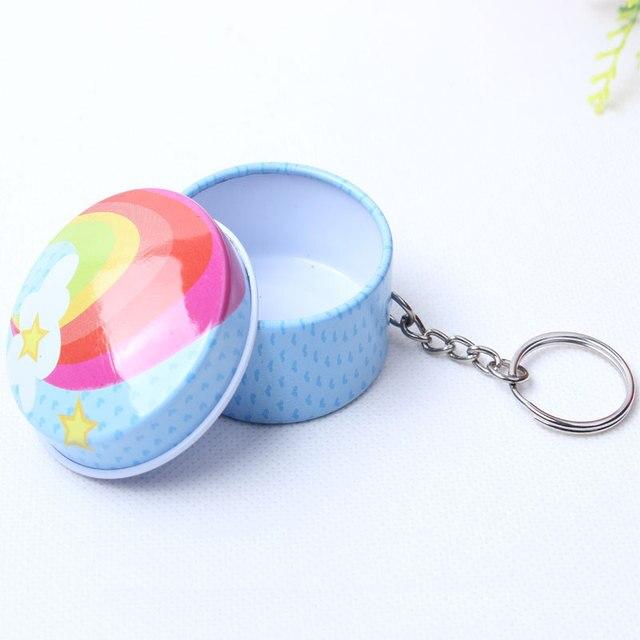 Charmant Fashionable Circle Shaped Iron Tin Storage Box Trinket Candy Jewelry Box  Pill Box Office Supplies With