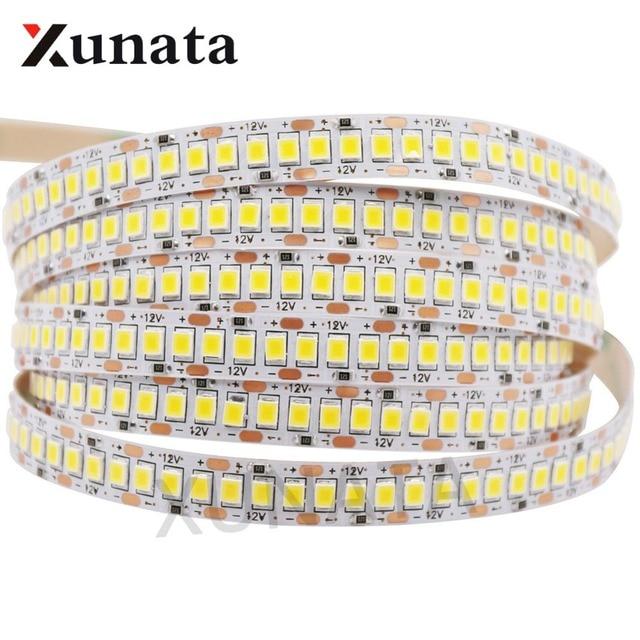 2835 SMD tira LED 240 LEDs/m 5 M 300/600/1200 Leds DC12V alta brillante Flexible cinta de cinta de cuerda LED blanco cálido/blanco frío
