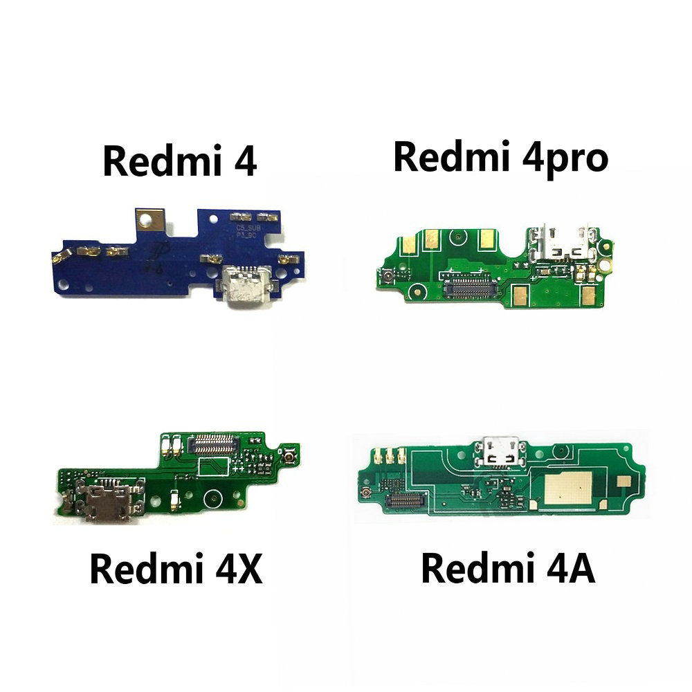 New USB Charging Port Jack Dock Plug Connector Charge Board Flex Cable With Microphone For Xiaomi Redmi 4 Pro / Redmi 4X 4A
