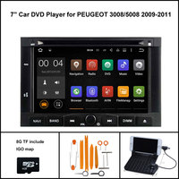 Android 5 1 Quad Core CAR DVD PLAYER For PEUGEOT 3008 5008 GPS RADIO 1024X600 HD