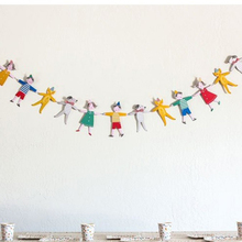 1Set Paper Garland Cute Hand in Girl Boy Dog Cat Bunting Banner Birthday Baby Shower Party Hanging Decoration