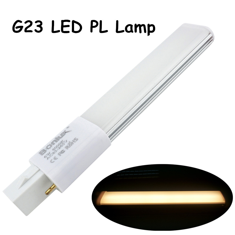 Led G23 Us 7 97 9 Off 6w G23 Led Pl Bulb Lamp 2 Pin Base Led Horizontal Plug Down Light 13w G23 Base Cfl Pl Compact Fluorescent Replacement Lamp In Led