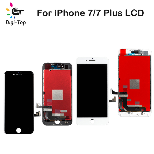 online retailer 22124 e6df9 Digi Top 50Pcs/Lot Wholesale Price For iPhone 7 7 Plus LCD Display Touch  Screen Digitizer Assembly AAA+++Free DHL Best LCD Parts-in Mobile Phone  LCDs ...