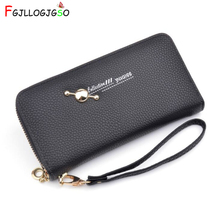 FGJLLOGJGSO Women Wallets for Female Fashion Leather Bags Lady Clutch ID Card Holders Cell Phone Cash Wallet Woman purses bolsas