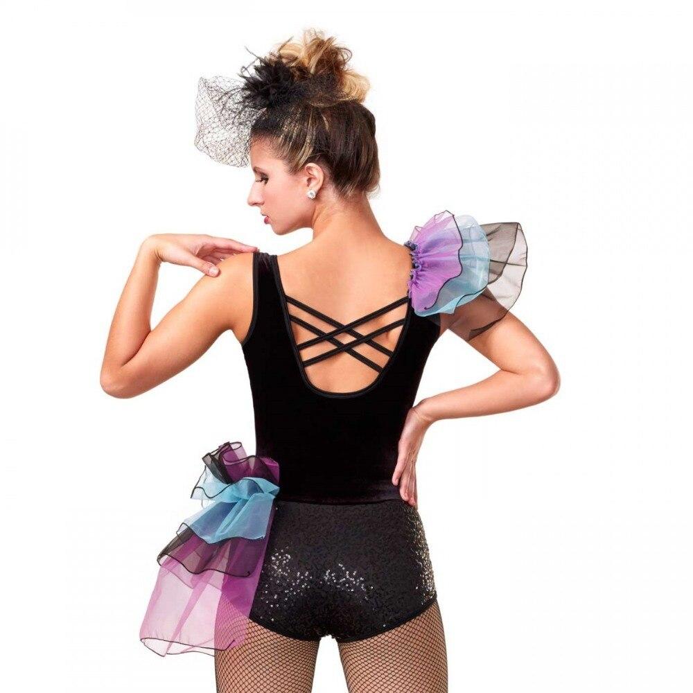 Lentejuelas y negro corpiño de terciopelo traje de la danza 4dfaf632fe8