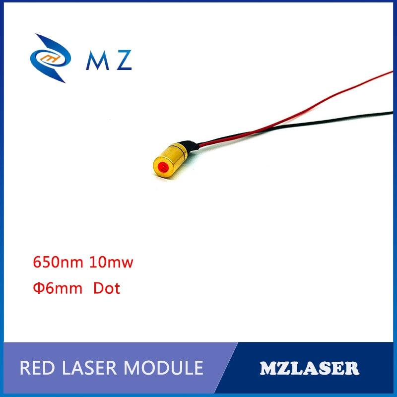 Dot Red Laser Module 6mm 650nm10mw Laser Module Economical Red Laser