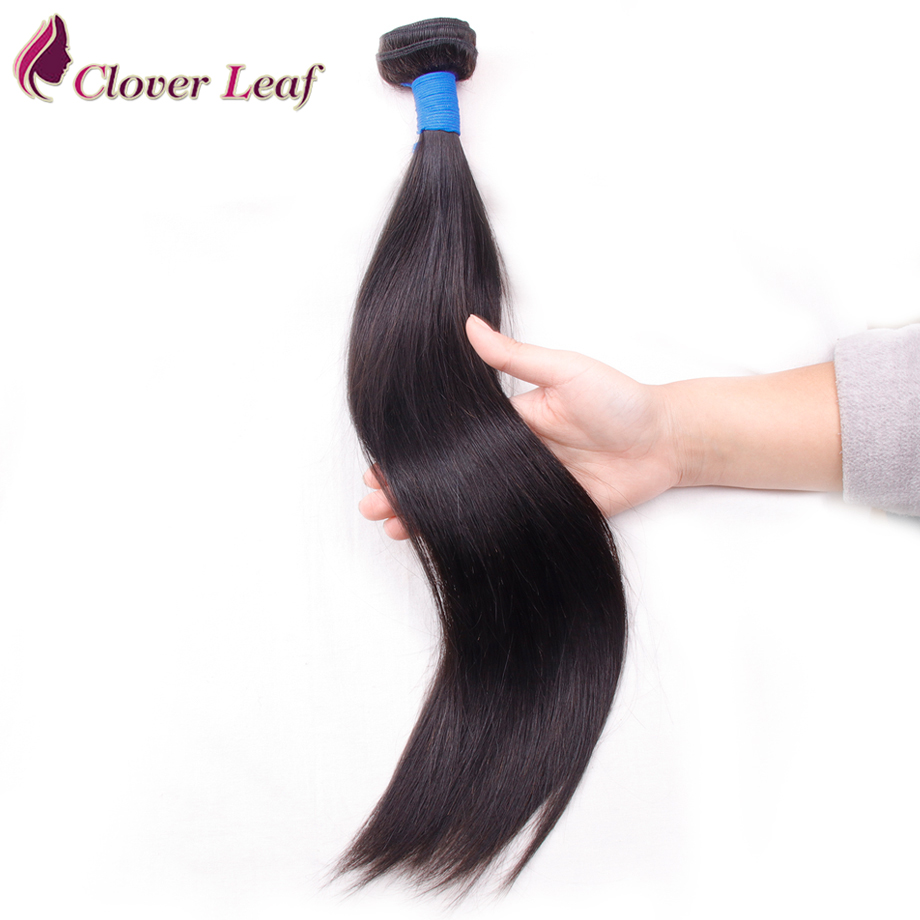 Clover Leaf Brazilian Straight Hair Bundles 1 Piece Only 100% Human Hair Weaving Natural Black Double Weft No Shedding 8-28 Inch