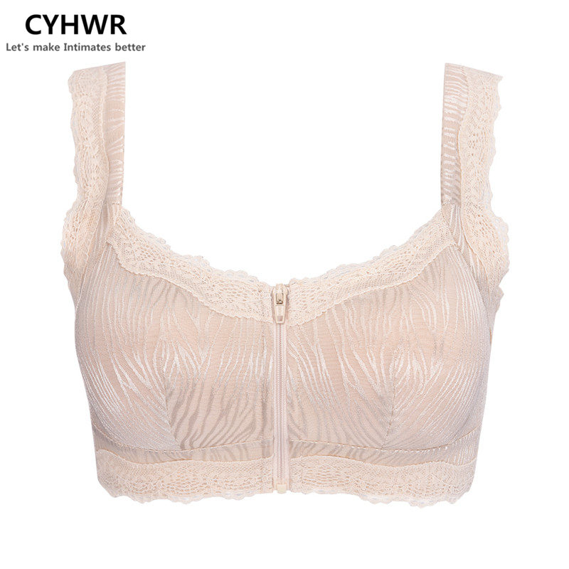 CYHWR Women's sexy lace floral push up padded underwear wire free full cup bras
