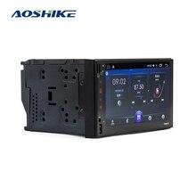 AOSHIKE 2 Din 안 드 로이드 6.0 자동차 멀티미디어 플레이어 GPS 7 hd 자동차 MP5 플레이어 블루투스 WIFI 쿼드 코어 FM MP4 자동차 라디오
