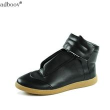 Стиль бренда Мужские сапоги мода звезды Модель Обувь с высоким берцем все черного и красного цвета Новые мужские Потрясающие ботинки качества в стиле хип-хоп ботинки Горячая распродажа!