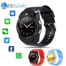 Relógio Bluetooth Inteligente V8 Esportes Aptidão Rastreador Cartão SD SIM Card Telefone Smartwatch Pedômetro Monitor de Sono Uma Curta Distância