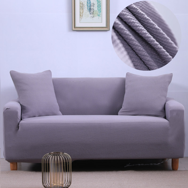 High quality Stretch Fabric Sofa Cover Solid Color Couch