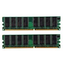 CAA-2GB(2x1GB) DDR 400 MHz PC3200 PC3200U Non-ECC Desktop PC DIMM Memory RAM 184-pin