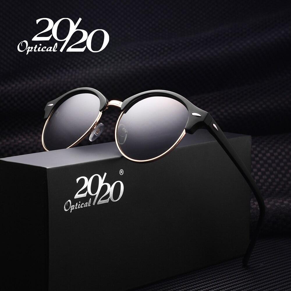20/20 Retro Rivet Polarized Sunglasses Men Classic Brand Designer Unisex Sun Glasses Oculos Gafas PL269