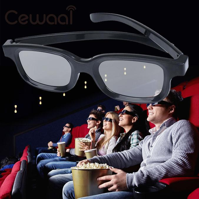 Cewaal High-quality Black Circle Round Polarized 3D Glasses Movie DVD LCD Video Game Theatre TV Theatre Movie Circular Wholesale