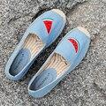 Женская Повседневная Обувь Мода Конопли Веревки Обувь Одного Удобные Женские Туфли Loafer Осень Холст Обувь Женщин