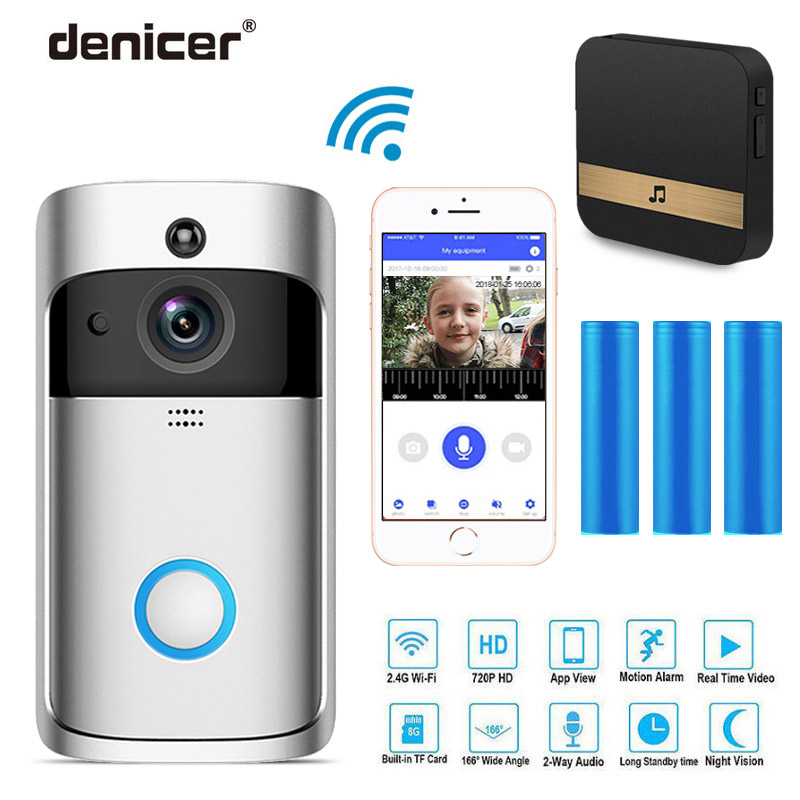 100% QualitäT Denicer Smart Ip Video Intercom Wifi Video Ring Telefon Tür Glocke Cam Wifi Türklingel Kamera Home Alarm Wireless Security Kamera