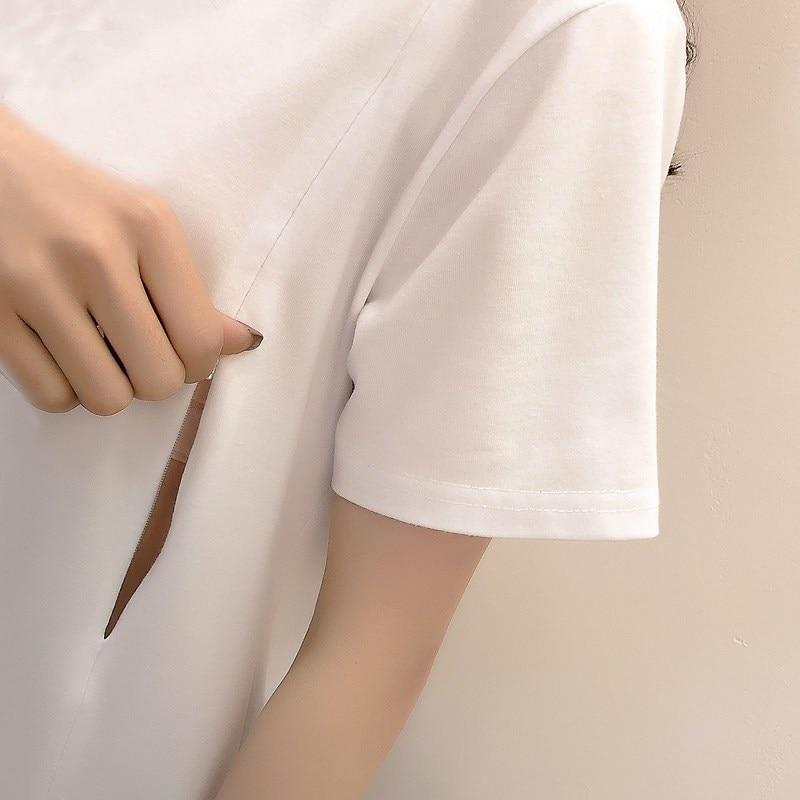 2018 Wear Breastfeeding Top Summer Short-sleeved T-shirt Out Fashion Prints Milking Clothing Post-natal Moms Breastfeeding Cloth