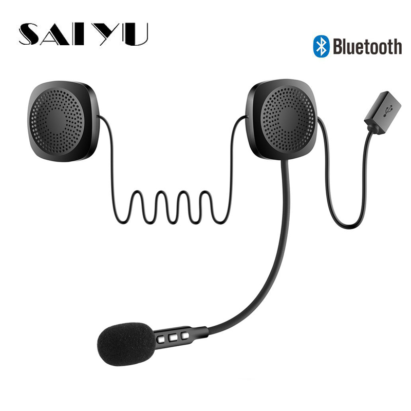 SAIEOSYU Helmet Headset Wireless Bluetooth Headphones Compatible with most Motorcycle Scooter Helmets Hands Free Talking