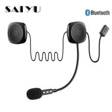 SAIEOSYU Helmet Headset Wireless Bluetooth Headphones Compat