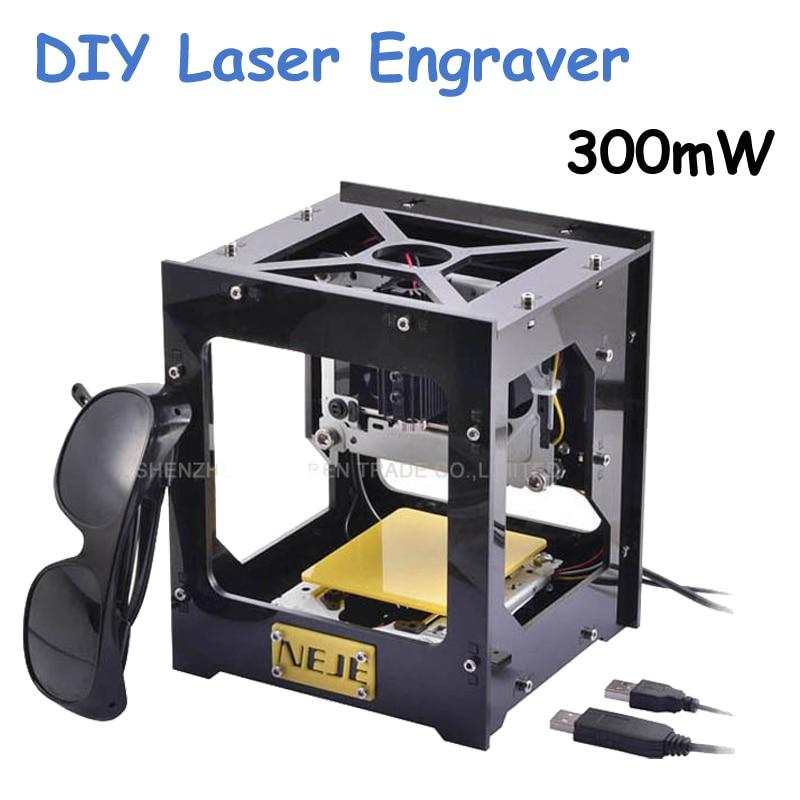 цена на CNC Wood Router New 300mW USB DIY Laser Engraver Laser Printer CNC Engraving Machine