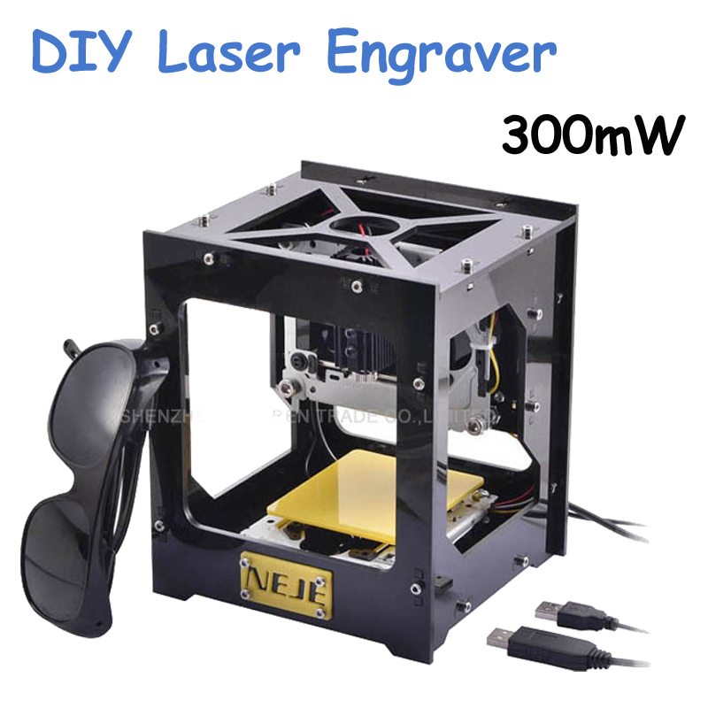 New 300mW USB DIY Laser Engraver Cutter Engraving Cutting Machine Laser Printer Engraving Wood Router