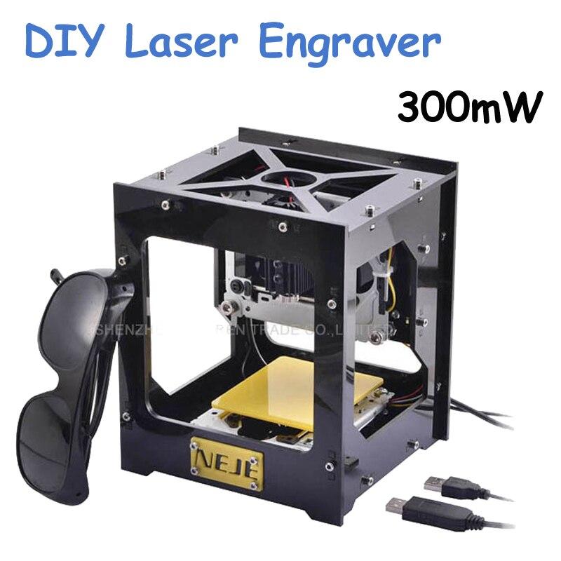 New 300mW USB DIY cnc Laser Engraver Cutter Engraving Cutting Machine  Laser Printer Engraving Wood Router