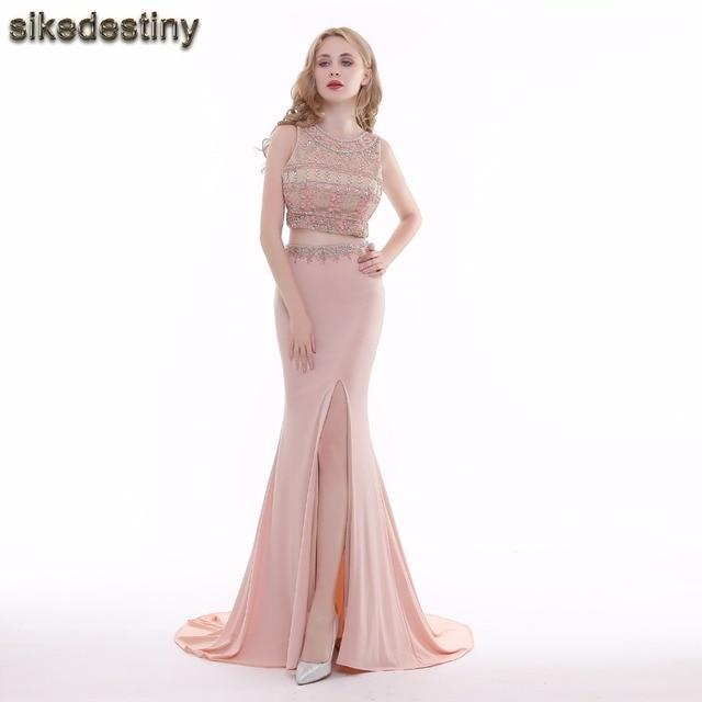 Real Photo Sexy Meerjungfrau Kristalle Abendkleider luxus ...