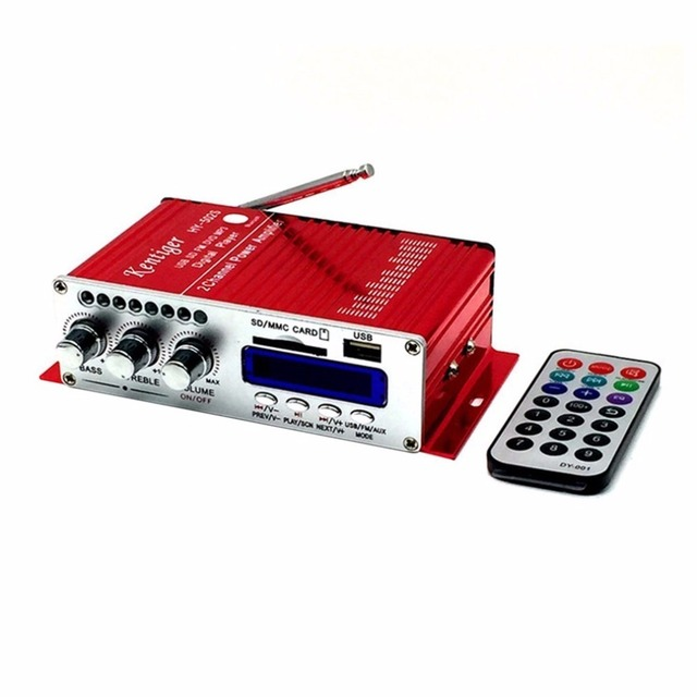 Best Offers Mini Bluetooth Hi-fi Stereo Audio Bluetooth Power Amplifier FM/MP3/SD/USB/DVD for iPod Phone Car Motorcycle
