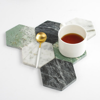 3pc Marble Pattern Ceramic Drink Coaster Coffee Cup Mat Tea Pad Dining Hard Table Placemats Table Decoration Accessories