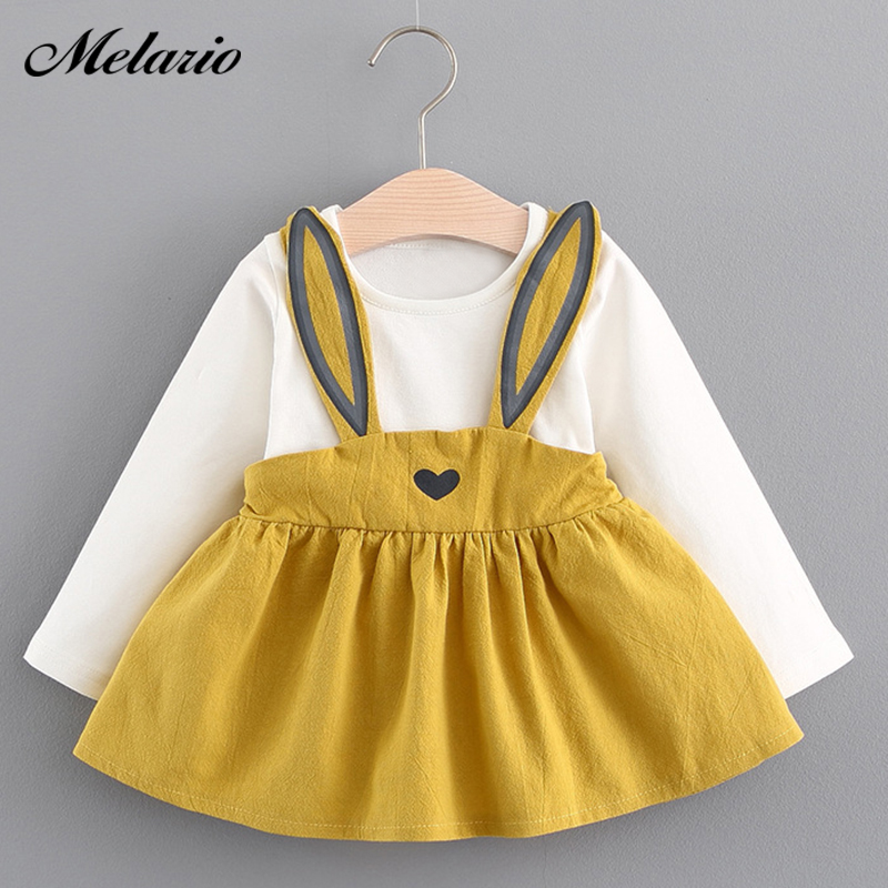 Melario Baby Dresses 2017 Summer New Baby Girls Clothes Lace Bow tie Mini A-Line Baby Princess Dress Cute Cotton Kids Clothing print overalls jeans for girls 3 4 5 6 7 8 9 10 11 years 2018 new fashion baby girl fall clothes print jumpsuit long denim pant