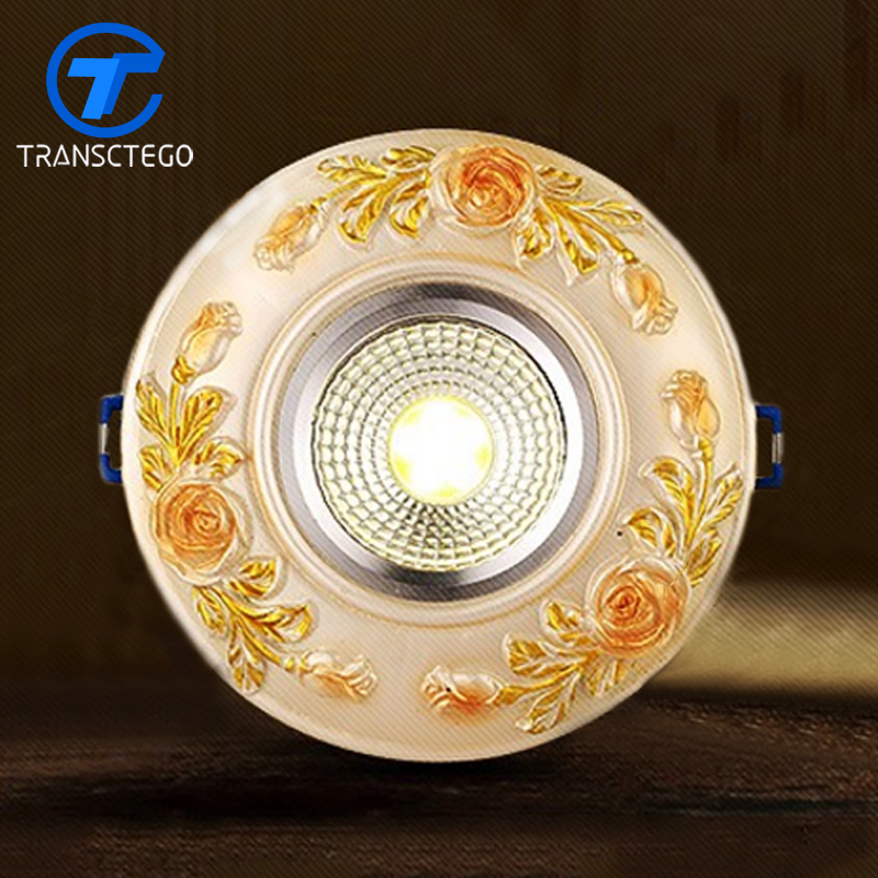 Ceiling Lights & Fans Lights & Lighting Selfless Downlight European Style Led Ceiling Lamp Embedded Carving Style Ceiling Lamp Energy-saving Lamp Living Room Attractive Appearance