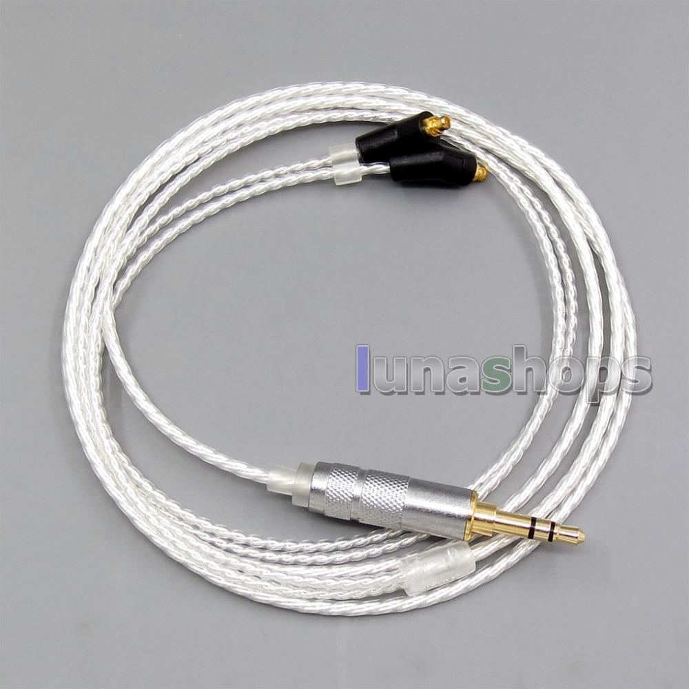3.5mm 6n OCC Silver Plated Earphone Cable For Etymotic ER4 XR SR ER4SR ER4XR free shipping 95m acrolink silver plated 6n occ signal teflon wire cable 1 0mm2 dia 1 6mm for di