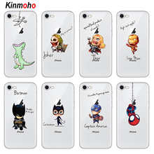 лучшая цена Marvel The Avengers Batman Catwoman Joker DC Comics Superhero Phone Cases Cover For iPhone 7 6 6S 8 Plus 5S SE 5 X XS Max XR