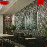 3d papel de parede modern vinyl mosaic wallpaper rolls for toilet plaid kitchen wall paper background waterproof wallcoverings