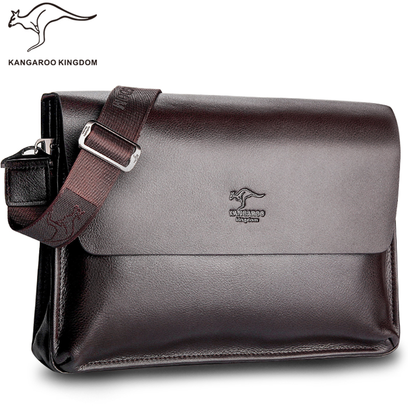 Kangaroo Kingdom Famous Brand Men Bag Leather Mens Messenger Bags Satchel недорого