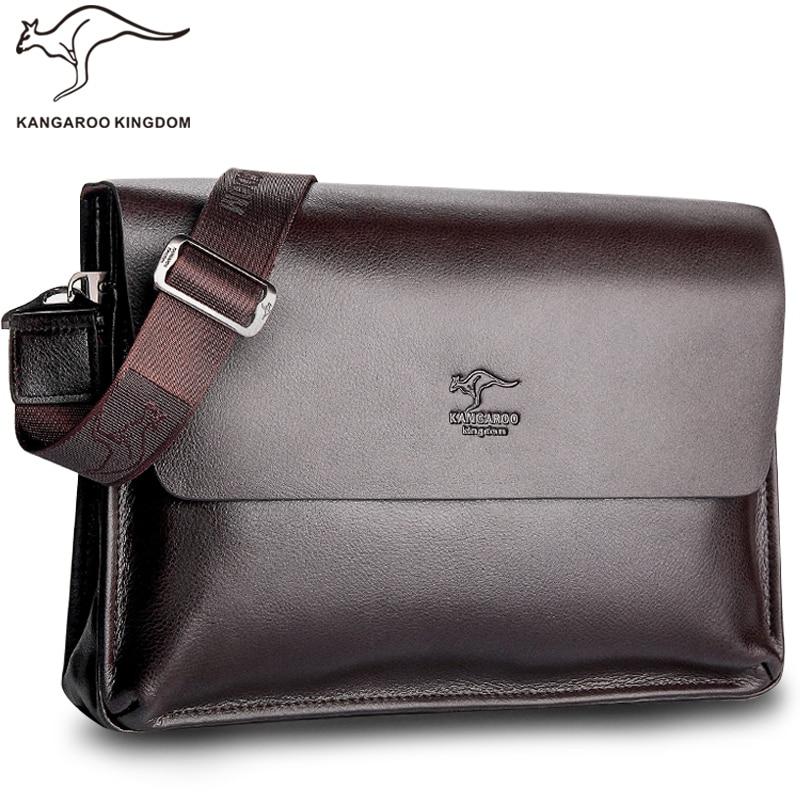 百思买 ) }}Kangaroo Kingdom Famous Brand Men Bag Leather