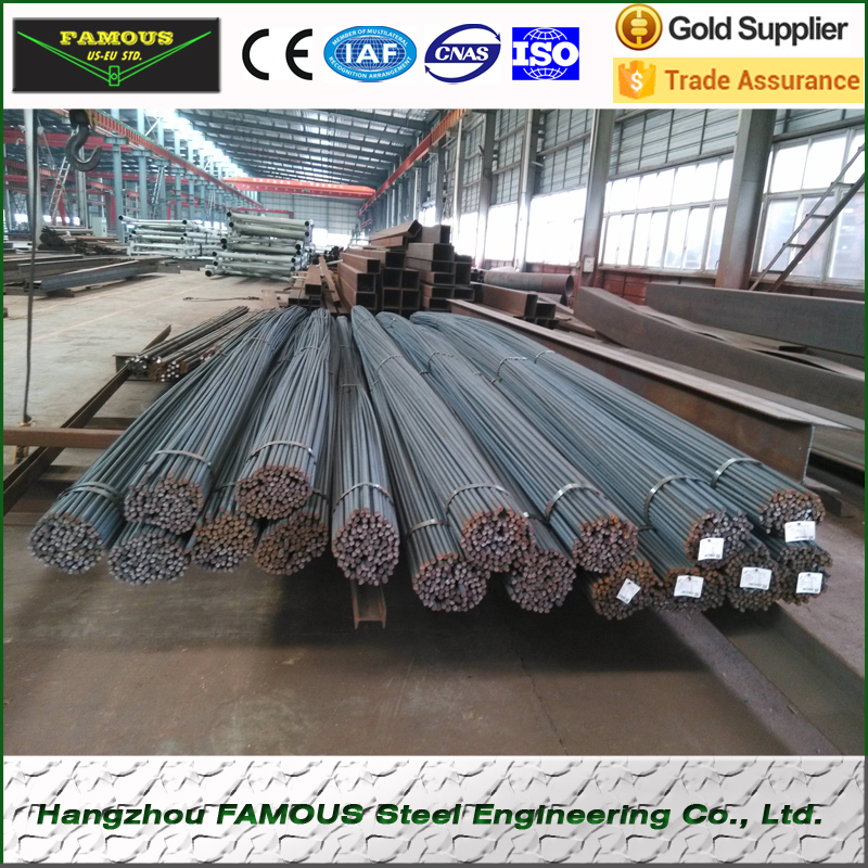 16-25mm HRB500E Prefabricated Reinforcing Steel Rebars With 5.8m Length