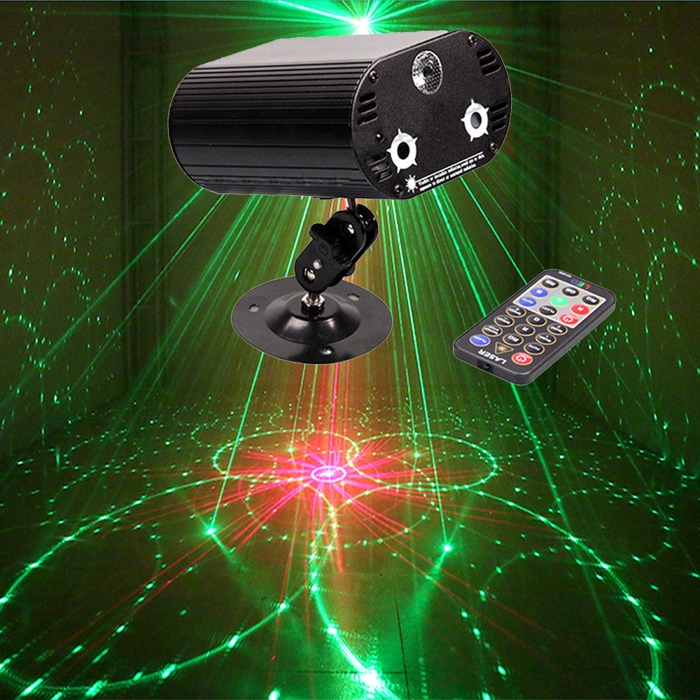 High quatily LED 3 in 1 RG remote laser music light dj laser projector disco stage effect light for home party entertainment tinhofire remote control 48 design led stage light lamp rg laser projector stage light 12v strobe laser dj disco party ktv