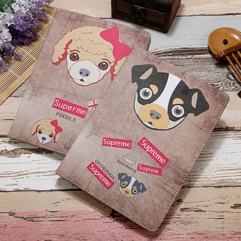Fashion Dog Case For Ipad Mini 4 Cover Boy Girl Cartoon Case Stand PU Leather Multi Stand Tablet Case Cover 7.9 Book For Kid
