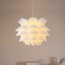 Искусство DIY цветок лотоса абажур современный подвесной светильник, Абажур белый теплый желтый абажур подвесной светильник украшение дома комнаты
