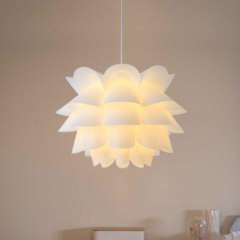 arte flor de lotus diy abajur abajur quarto moderno luz pingente sombra amarelo branco quente