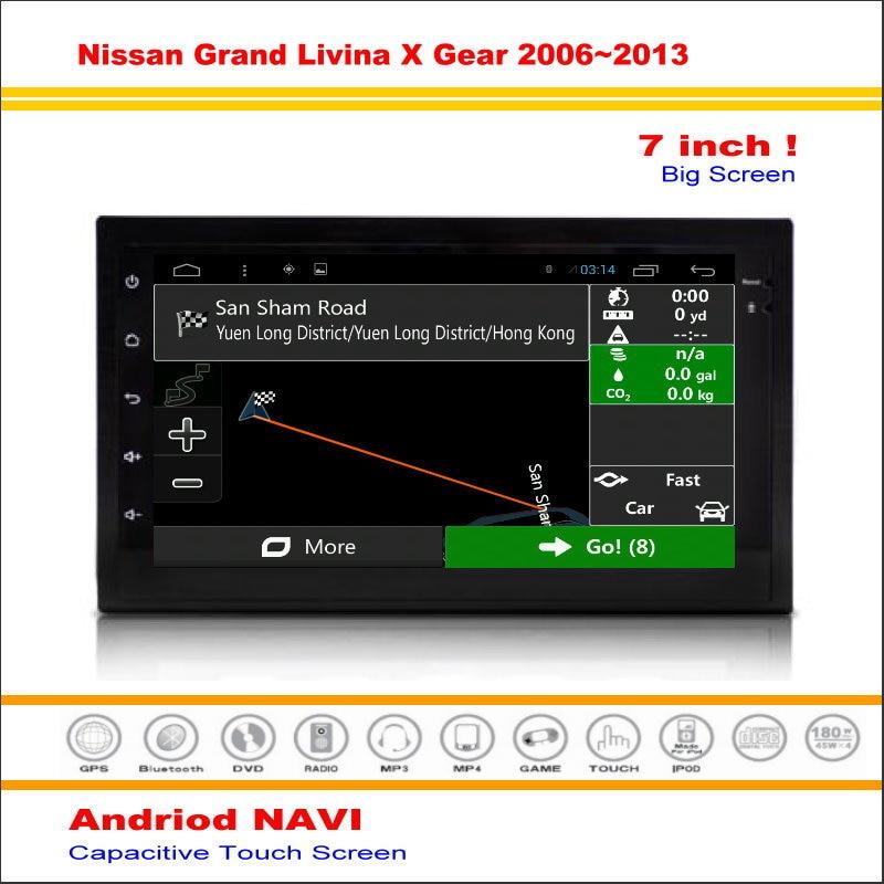Coche android sistema de navegación gps para nissan grand livina x engranajes/Ve