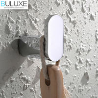 BULUXE Brass Bathroom Accessories Wall Hanger Chrome Finished Robe Hook Bath Acessorios de banheiro HP7737