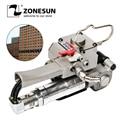 ZONESUN пневматический PET PP обвязочный инструмент портативный XQD-19 ПЭТ картонный ленточный ремень шиномонтажный станок для 12-19 мм